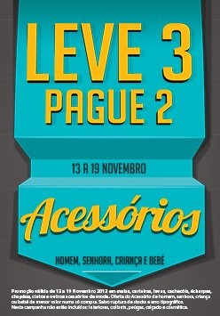 Leve 3 Pague 2 | CODE / PINGO DOCE | Acessórios, de 13 a 19 novembro