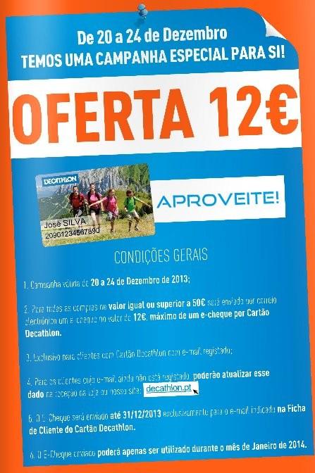 Oferta 12€ | DECATHLON | Até 24 dezembro