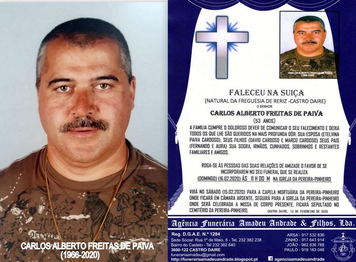 FOTO RIP DE CARLOS ALBERTO FREITAS DE PAIVA -PEREI