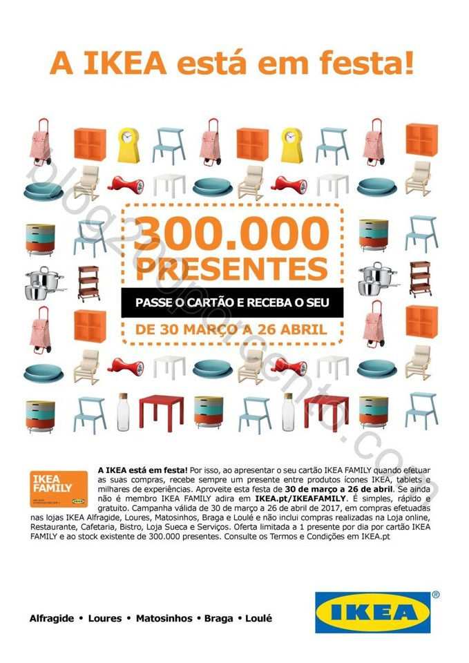 Festa IKEA 300000 Presentes promoção de 30 març