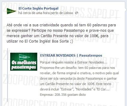 Passatempo ganha 100€ | EL CORTE INGLÉS |