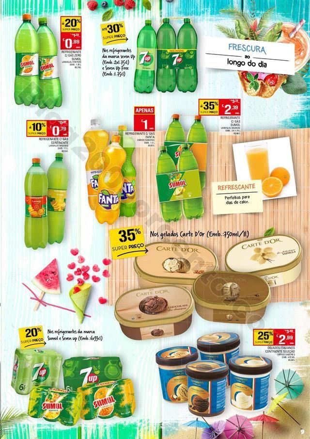 Antevisão Folheto CONTINENTE Bebidas e Gelados Pr