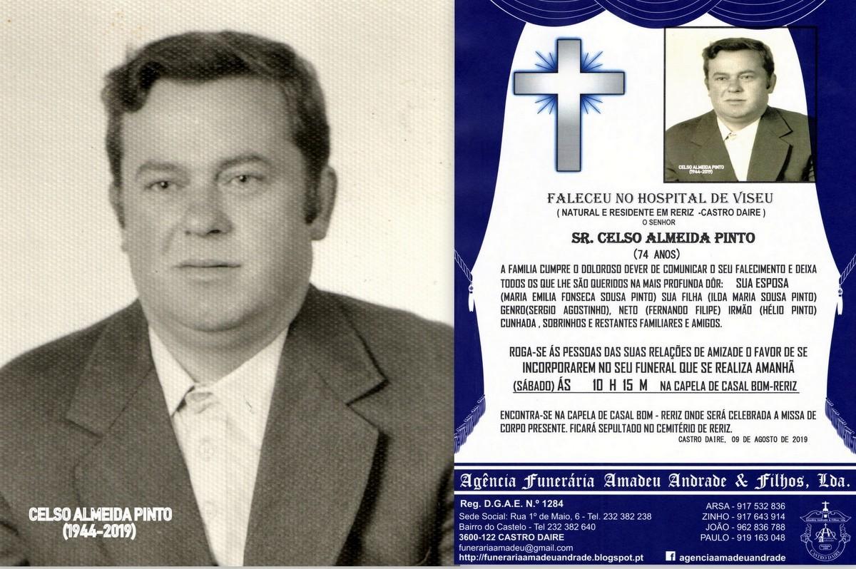 FOTO RIP  DE CELSO ALMEIDA PINTO-74 ANOS (CASAL BO