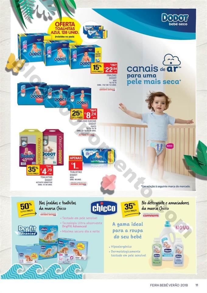 Antevisão Folheto CONTINENTE Bebé Promoções de