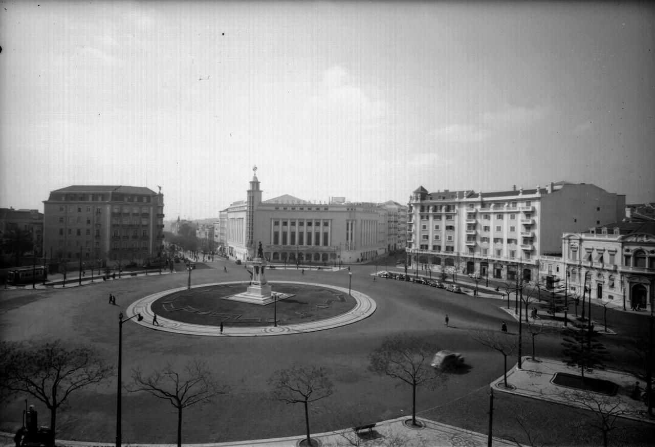 Praça Duque de Saldanha, sd, foto de António Pas