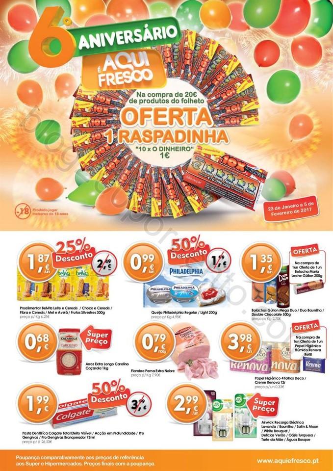 Novo Folheto AQUI É FRESCO Promoções de 23 jane