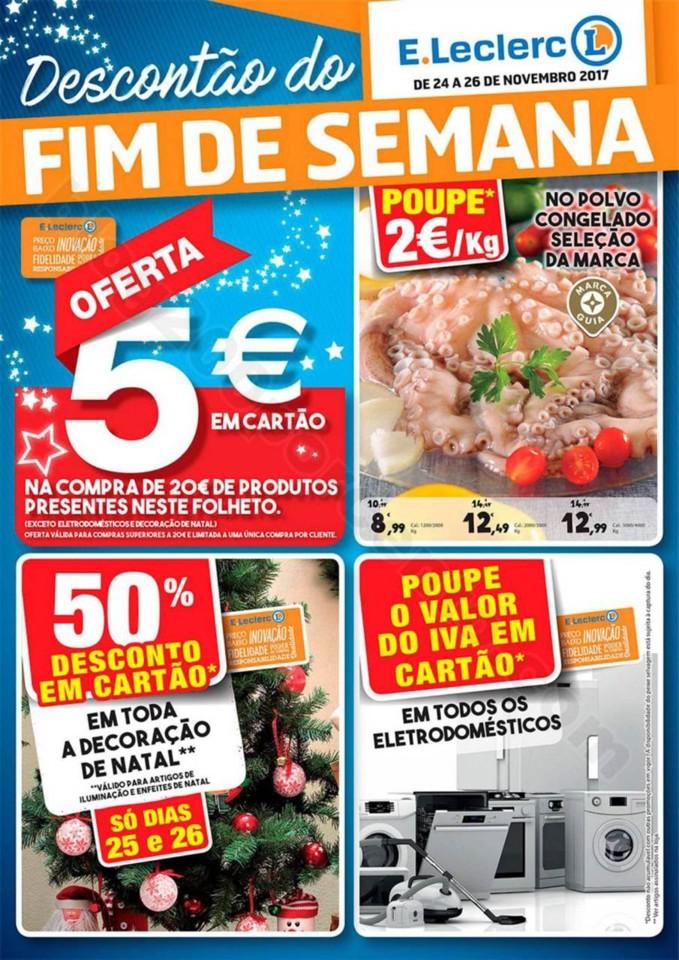 Antevisão Folheto E-LECLERC Fim de semana 24 a 26