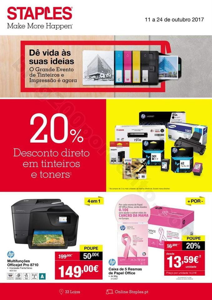 Antevisão Folheto STAPLES Promoções de 11 a 24