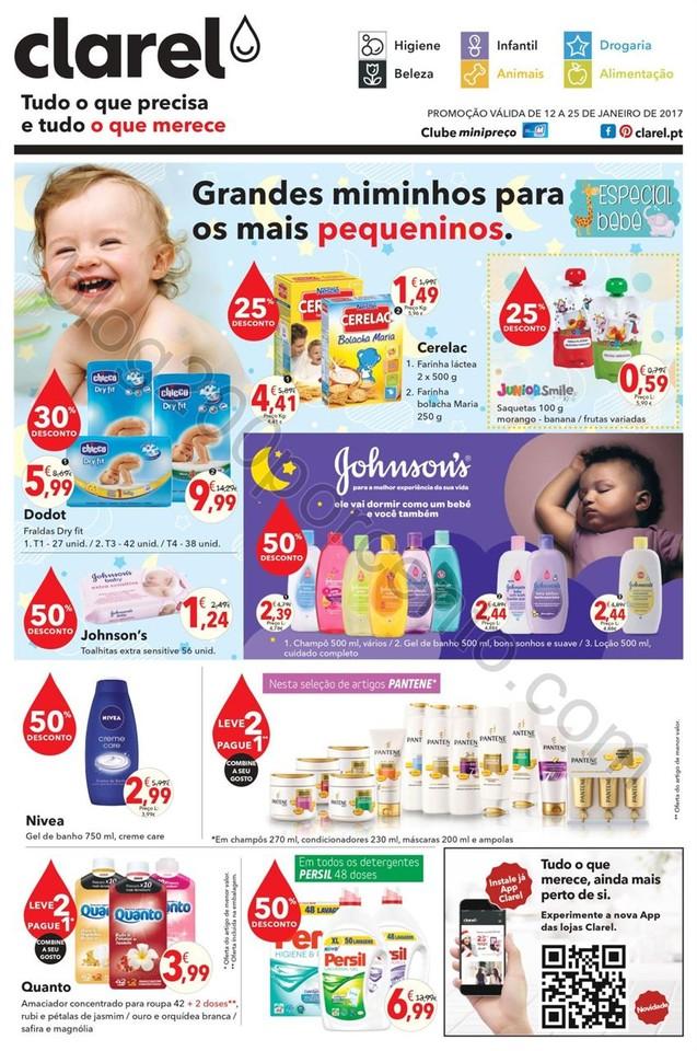 Antevisão Folheto CLAREL Bebé promoções de 12