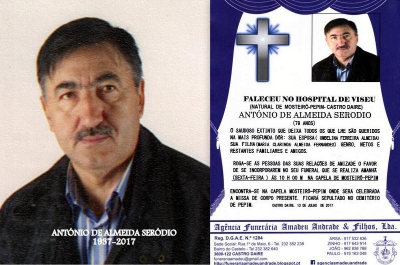 RIP-FOTO DE ANTÓNIO DE ALMEIDA SERODIO-79 ANOS (M