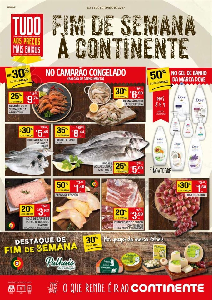 Antevisão Folheto CONTINENTE Fim de semana de 8 a