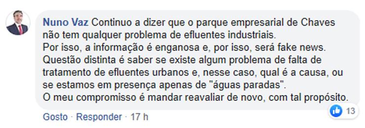 Comentário Nuno Vaz Chaves Cidade Linda nº 5 - p