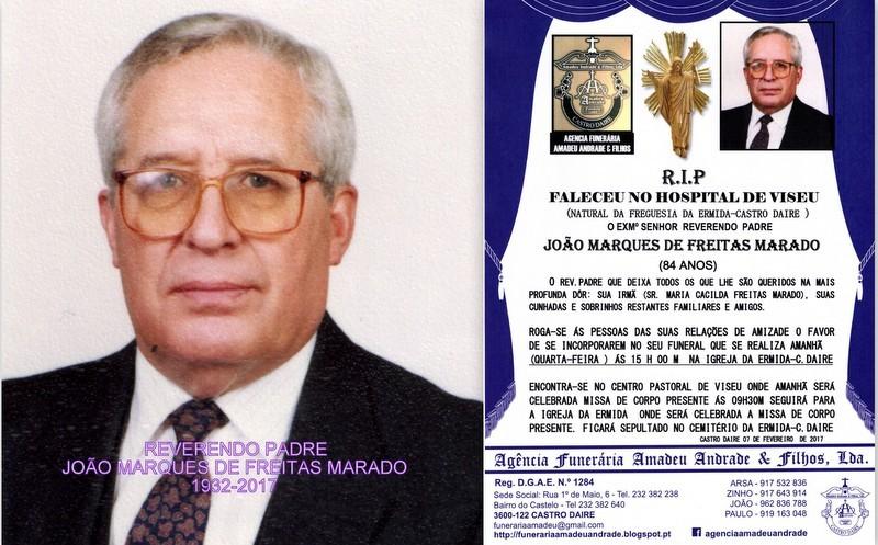 RIP E FOTO  PADRE JOÃO MARQUES DE FREITAS  MARADO