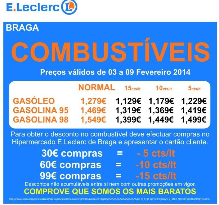 Combustíveis | E-LECLERC | Braga de 3 a 9 fevereiro