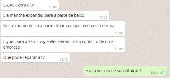 Conversa de Whatsapp entre Maria e Moço - A TV
