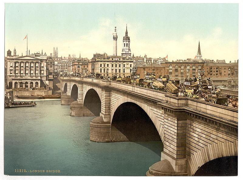 Nova Ponte de Londres, Rio Tamisa (Anón., c. 1890-1900)