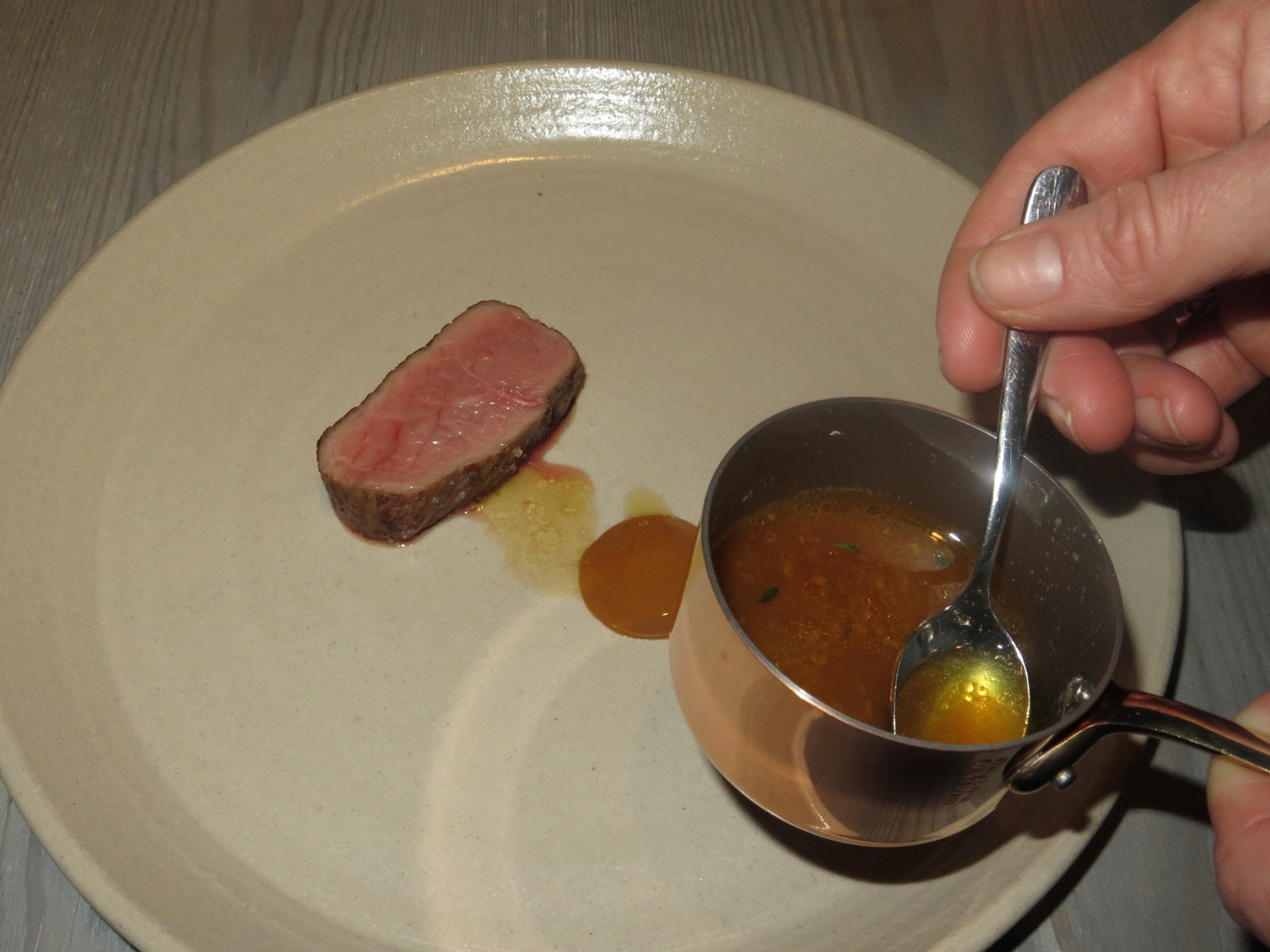 Veal with fermented, roasted and very finely ground lupin