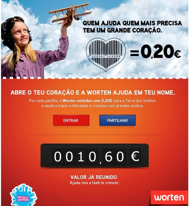 Código dá 20 | WORTEN | Contribui com 0,20€