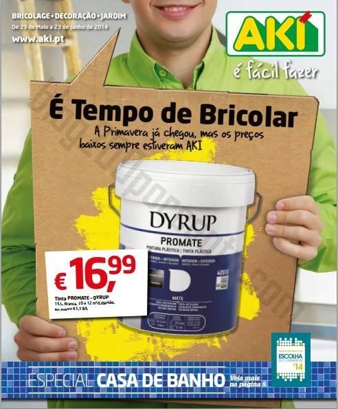Novo folheto AKI É tempo de Bricolar, até 23 junho