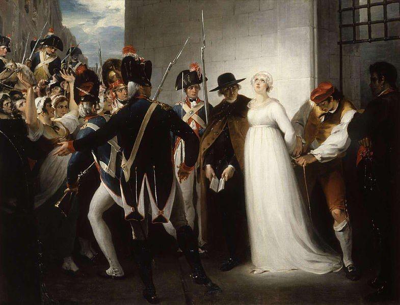 Maria Antonieta levada para ao cadafalso - William Hamilton