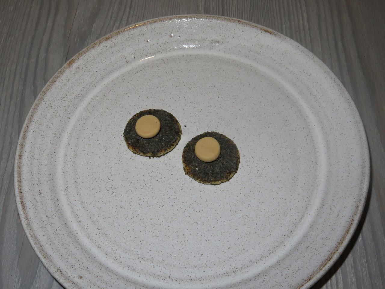 Sourdough pancake, seaweed, beef butter