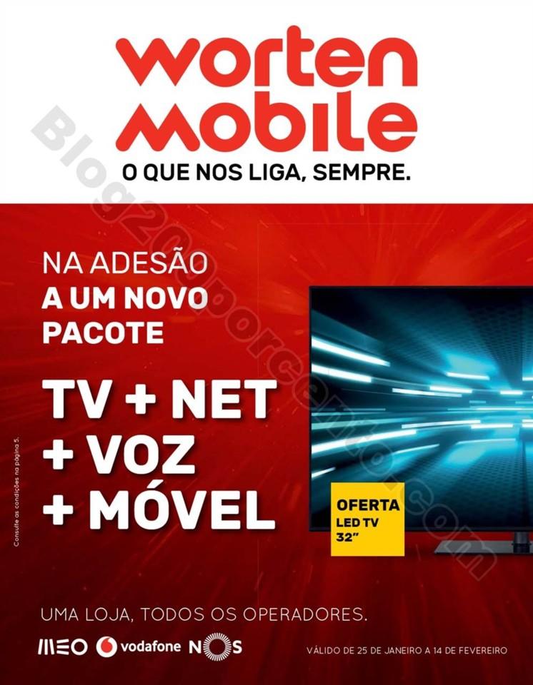 Antevisão Folheto WORTEN Mobile Promoções 25 ja