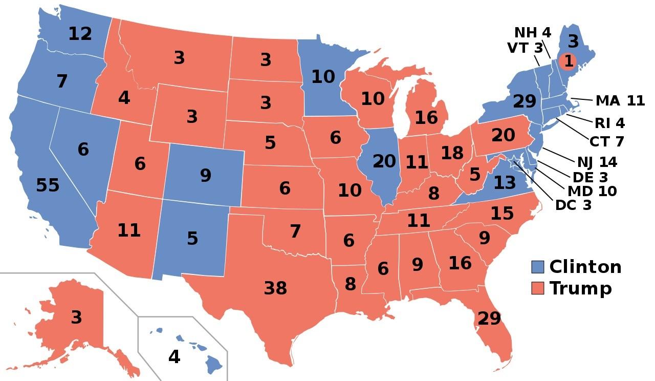 Mapa EUA Eleitoral_2016
