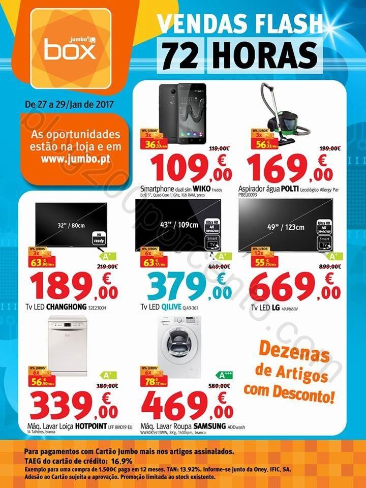 Vendas Flash JUMBO - BOX promoções de 27 a 29 ja