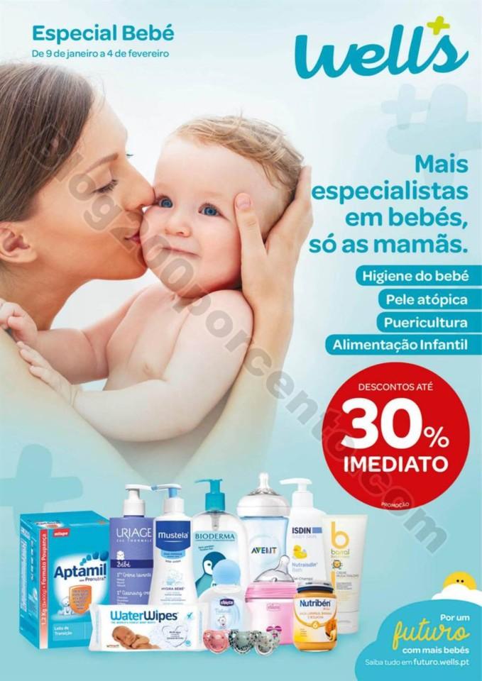 Antevisão Folheto WELLS Bebé promoções de 9 ja