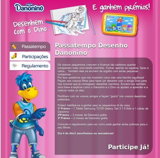 Passatempo | DANONE | desenha o Danonino