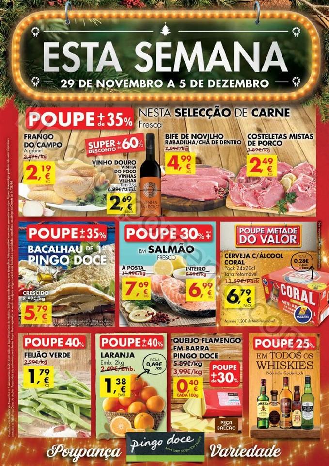 Antevisão Folheto PINGO DOCE Madeira de 29 novemb