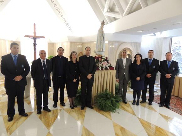 capela da casa Santa Marta - a delegação