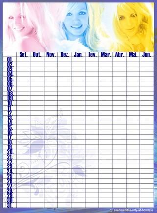 calendário marcação de testes