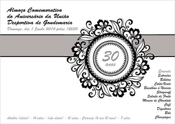 Convite Aniversário udg 2014 - 01.06.2014