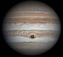 Jupiter's Great Red Spot Swallows Earth - pia217