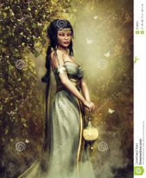 sacerdotisa-da-fantasia-com-uma-lâmpada-87499299.