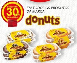 desconto 30% donuts continente - acumulação