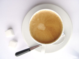 Picture of an espresso cup of coffee. Image source: http://www.sxc.hu/photo/74717