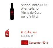 50% vinhos Vinha do Coro