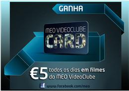 MEO Videoclube Card disponível no Meo Online