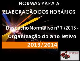 Organização do ano letivo 2013/2014