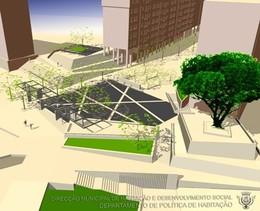Simulação 3 D do projecto em execução