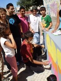 Pintura de muretes na Flamenga