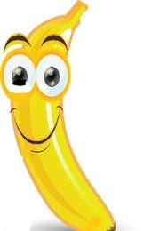22816289-Sticker-of-cartoon-banana-Stock-Vector-ba