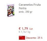 Caramelos Fruta Penha 25%