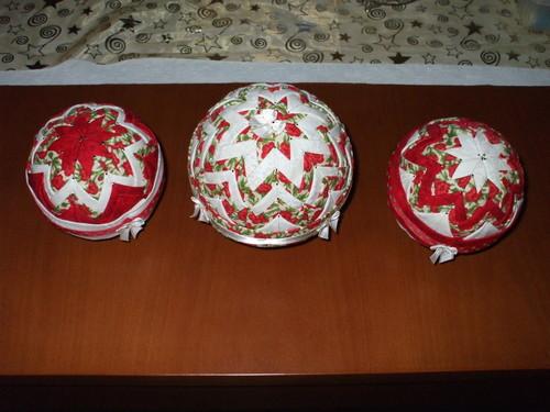 Bolas decorativas em tecido