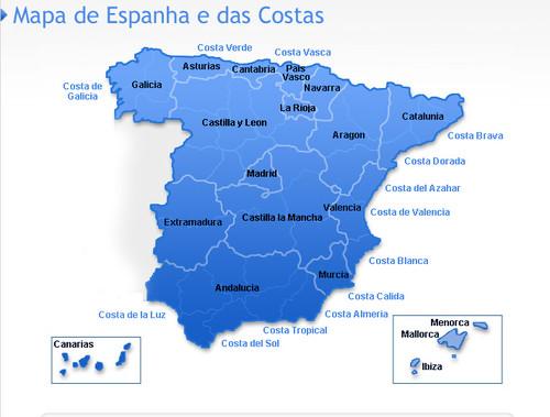 praias em Espanha