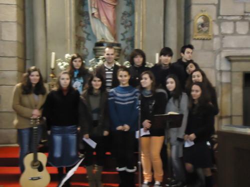 o grupo na Igreja Matriz