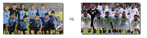 Transmissão do jogo Uruguai vs Gana em directo