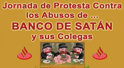Protesto banco santander